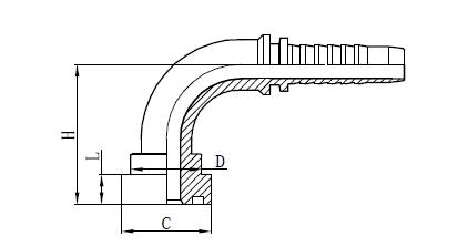Debuxo de montaxe de manguera 4SH