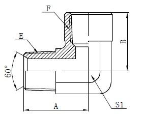 Deseño de adaptador americano de 90 graos