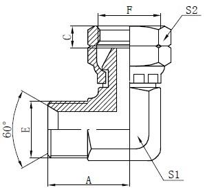 Deseño de conectores BSP Elbow