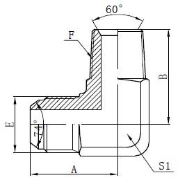 Deseño de conectores adaptador macho BSPT