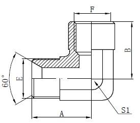 Deseño de accesorios para adaptadores BSP para codo