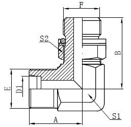 Deseño de adaptadores hidráulicos para codo