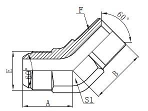 Deseño de conectores de codo JIS GAS