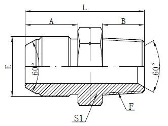 Deseño de adaptador JIS To NPT