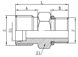 Deseño de conectores de mangueiras de O-ring SAE