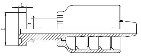 Debuxo de conector de tubo SS