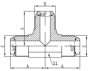 Winner Standard AK Fitting Drawing